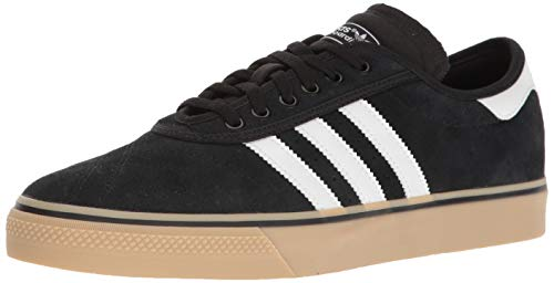 adidas Originals Men's Adi-Ease Premiere Fashion Sneaker, Black/White/Gum, (14 M US) -