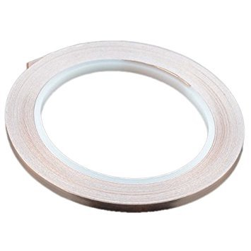 TOOGOO(R) Cinta de cobre - 5 mm (longitud 50 pies)