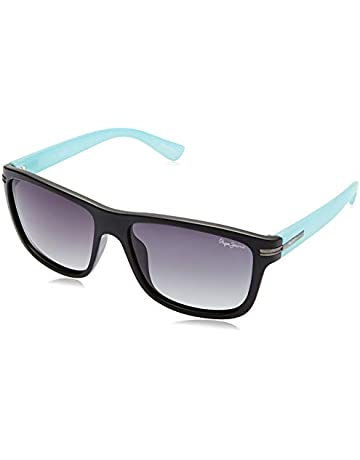 fcba5b521af0 Pepe Jeans Polarized Wayfarer Unisex Sunglasses - (PJ7278C1P_Matt  Black|55|Purple Gradient Color