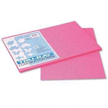 Pacon Gesellschaft PAC103045 Tru-Ray Bau Papier 12 X 18 Hot-Shocking Pink