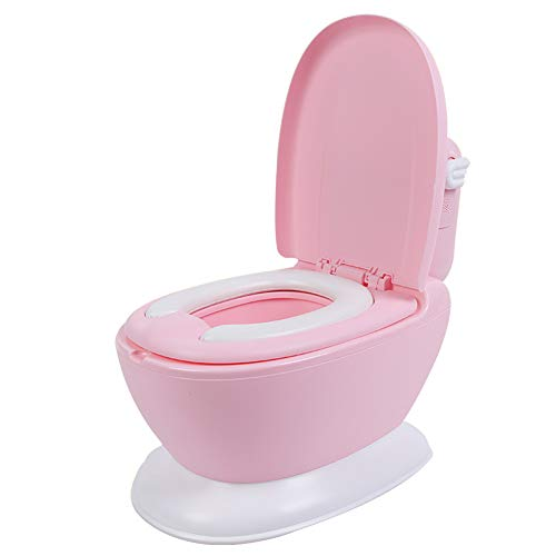 Kbsj Orinal Potty, Botón Empotrable con Sonido,Asiento De Entrenamiento para Niños, WC...
