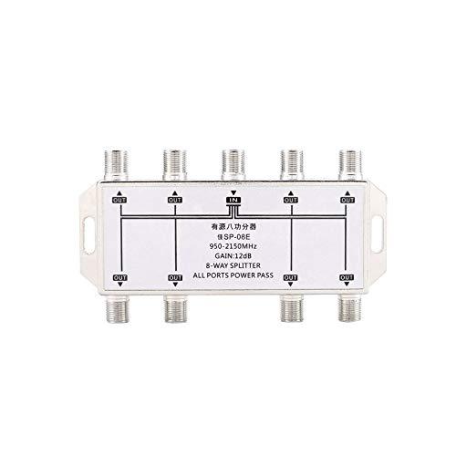 HermosaUKnight Mini8 Way Port TV Signal Satellite Sat Coaxial Diplexer Combiner Splitter Isolation Sat-tv