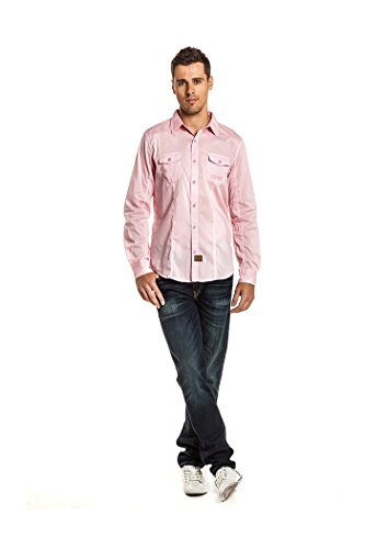 KAPORAL Moby Chemise Ml Homme Rose