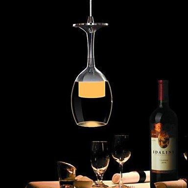 DXZMBDM 3 W LED Cup Kronleuchter Lampe Weinglas Hängelampe für Wohnzimmer Bar Saloon Esszimmer...