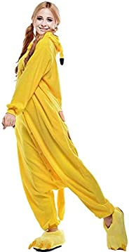 Size XL Unisex Adult Pikachu Onesies Animal Cosplay Costume Halloween Xmas Pajamas
