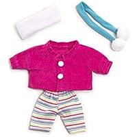 Miniland Conjunto Frio Chaqueta 21CM Vestido para muñecos de 21 cm, Color rosa 31678