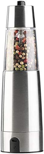 Rosenstein & Söhne Pfeffermühle: Automatische Akku-Gewürzmühle mit Keramik-Mahlwerk, USB-Ladefunktion (Chilimühle)