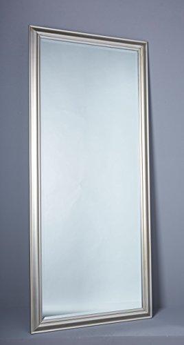 Wholesaler GmbH Wandspiegel Spiegel Flurspiegel ca. 180 x 80 cm Silber Schlichter Landhaus-Stil mit Facettenschliff