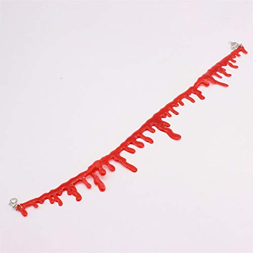 Modische lustige Design Blut Halsband Halskette Frauen Halsketten Halloween Geschenk Gothic personalisierte Kragen Schmuck Geschenk - rot