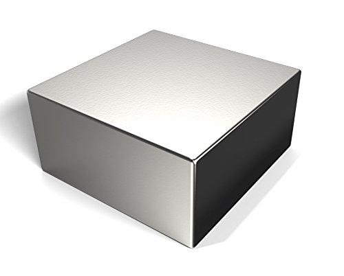 Neodym-Magnet als Magnet-Quader in 51 x 51 x 25 mm, vernickelt (NiCuNi)   Haftkraft ca~300 kg   Extra stark in N48