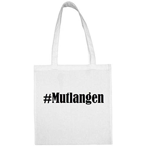 """Tasche""""#Mutlangen""""Größe""""38x42""""Farbe""""Weiss""""Druck""""Schwarz"""