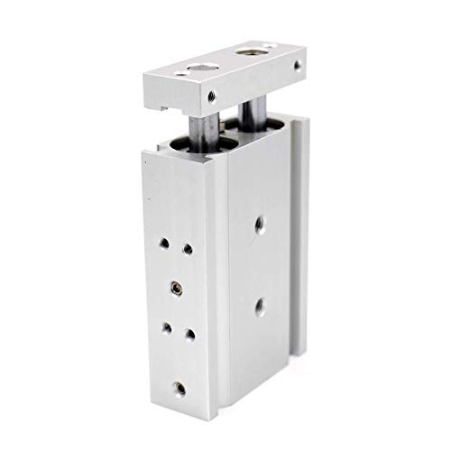 Heschen - Cilindro de Aire de Aluminio Doble CXSM 20-25 - Placa de Bar
