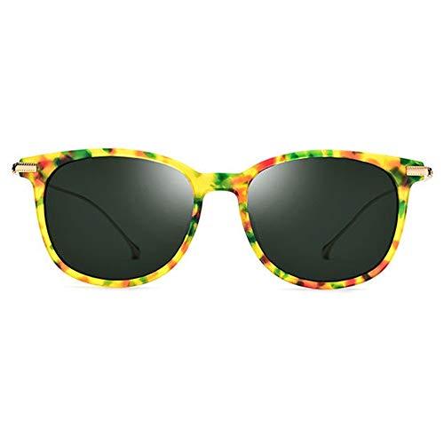 WWFF New B Titan Polarisierte Sonnenbrille Männer Ultraleichte Mode Brille Weibliche Farbe Muster Rahmen Dunkelgrüne Linse UV400 Schutz