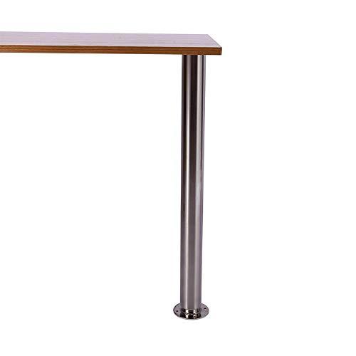 Tischbein, 75kg Metall Möbelfuß Tischfüße Verstellfüße Stützfüße Möbelbeine Arbeitsplatte Unterstützung Teleskop-Tischbein für Esstisch Stehtisch Bürotisch, Höhenverstellbar 710-1100mm