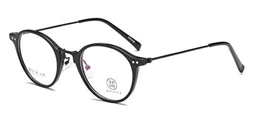 JIUPO Retro Brille Ohne Sehstärke Brillengestelle Nerd Brillenfassung Klare Gläsern Unisex(Herren/Damen)
