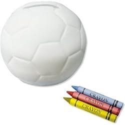 Hucha para colorear de balón de Fútbol
