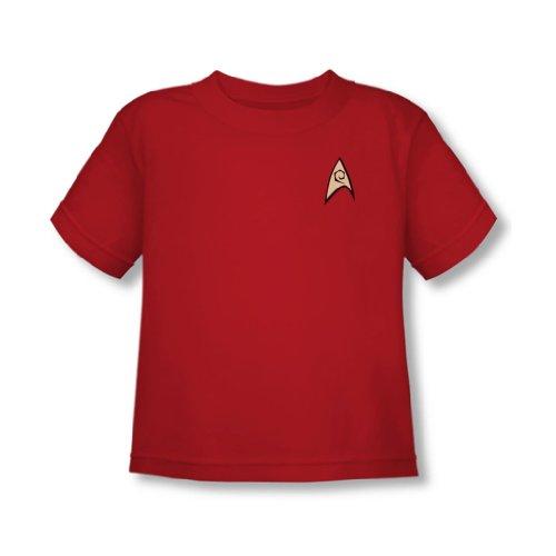 Star Trek - Engineering Uniform Kleinkind T-Shirt in Rot, 4T, Red