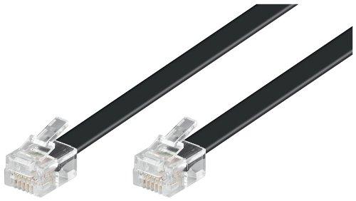 Goobay 50323 Modularanschlusskabel, Schwarz, 10m Kabellänge,