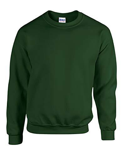 Gildan Men's Heavy Blend Crewneck Sweatshirt - Medium - Forest Green -