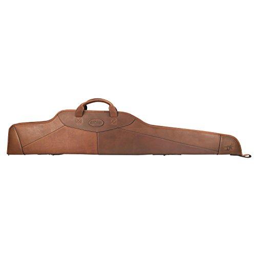 Tourbon Jagd traditionellen englischen Leder Gun Case weiche Gewehr 127 cm Zielfernrohr gun Tasche mit verstellbarer Schultergurt - Braun -