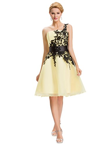 4-hochzeits-kleid-kleid (mode damenkleider vintage abendkleider knielang swing dress for women geburtstag kleid Größe 42 CL4288-4)