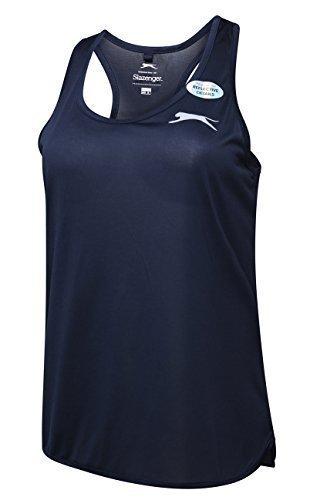 Slazenger Damen ultraleichten Fitnessstudio Jogging Tank ärmelloses Top Racerback Oberteile - Marine, 12 (Ärmelloses Sportbekleidung Damen)