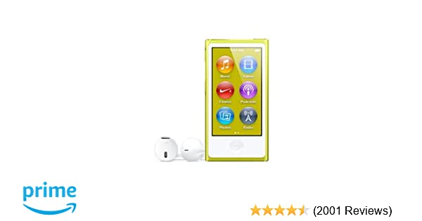 Apple iPod nano 16GB, 7th Generation - Yellow