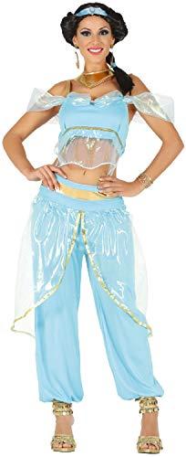 Fancy Me Damen Sexy Arabische Prinzessin Royalty TV-Buch Film Bauchtänzerin Junggesellinnenabschied Party Kostüm ()
