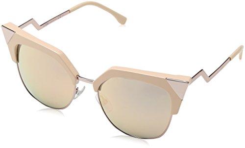 Fendi ff 0149/s 0j z8c 54, occhiali da sole donna, rosa (pink/grey rosegd sp)