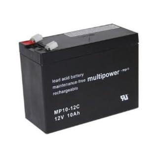 MultiPower Bleiakku MP10-12C Zyklen-Type, 12Volt 10Ah Bleibatterie