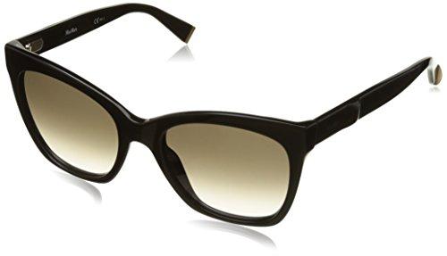 Max mara mm modern iv js 807, occhiali da sole donna, nero (black/brown sf), 55