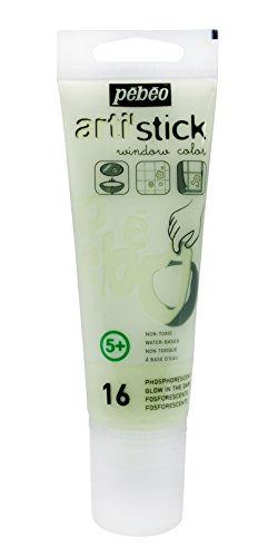 Arti'Stick Repositionable Window Paint 75ml - Glow In The Dark by Pebeo
