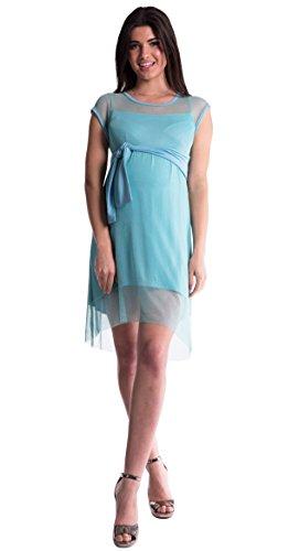 Mija - Elegantes 2 in1 Umstandskleid Schwangerschaftskleid / Kleid 4036 Minze