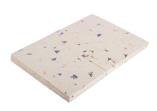angelsey-paper-company-carta-lokta-100-fogli-a4-petali-di-fiordaliso-su-foglio-nature