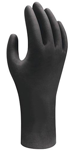 Latex-frei Steril (100x Showa Nitril Einweg-Handschuhe | Geeignet für Lebensmittelkontakt | Puderfrei Chemikalienbeständig Antistatisch Lebensmittelecht Unsteril | Tattoo Medizin Werkstatt | Schwarz | 9 (L))
