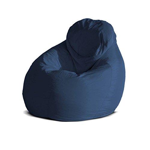 Pouf-poltrona-sacco-grande-BAG-XXL-Jive-tessuto-tecnico-antistrappo-blu-scuro-imbottito-Avalon