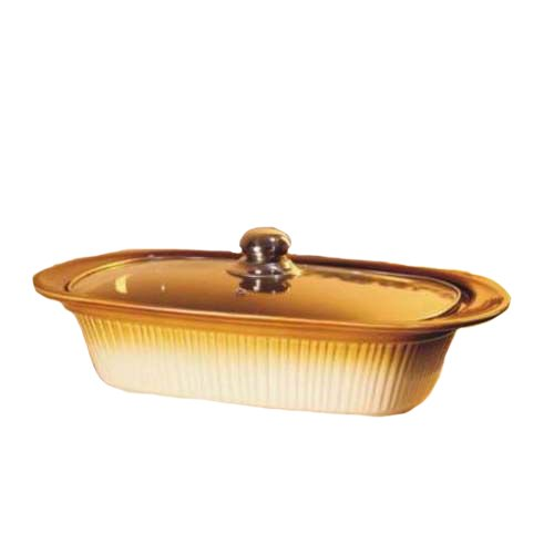 Essential Décor Entrada Collection GL89676 Ceramic Rectangular Casserole Dish with Cover, 17-Inch Casserole Cover