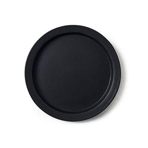 CJW Nordic simple home steak plate - assiette à dessert délicate écologique, plat de cuisson, 10 pouces (Color : Black)