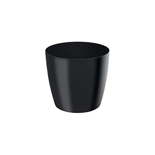 Classique luisant cache-pot LOBELIA, 14 cm, en noir