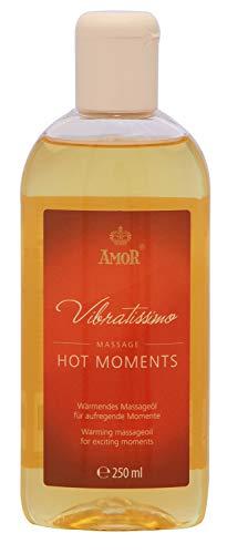 Vibratissimo Hot Moments Riscaldamento Olio da Massaggio per Momenti Emozionanti - 250 ml