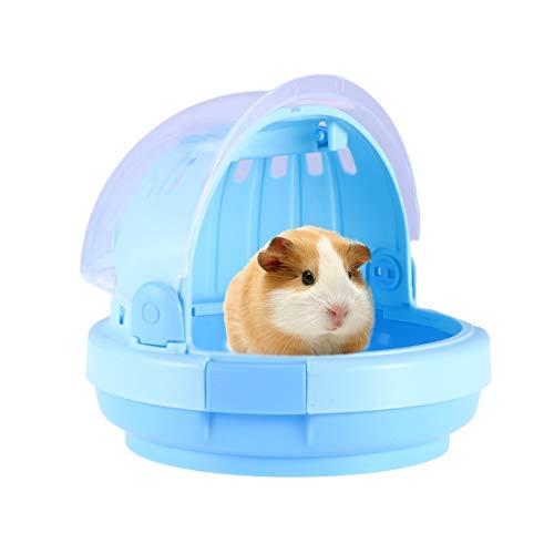 Hamster Hamster Carrier-Kreative tragbare kleine Transportbox für Syrische Hamster Zwerghamster Maus und andere kleine Tiere-Blau -