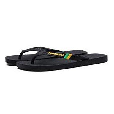Slippers & Primavera Estate Comfort Light Suole PU Uomo Casual Applique unito spaccato nero Walki sandali US8 / EU40 / UK7 / CN41