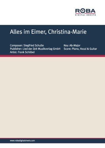 Alles im Eimer, Christina-Marie: as performed by Frank Schöbel, Single Songbook