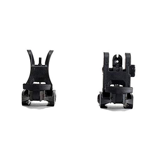 OAREA Taktische Vorne Hinten Visier Set Folding Design Dual Apertures Polymer Sehenswürdigkeiten Fit Picatinny Schienen für M4 M16 AR15 Gewehr