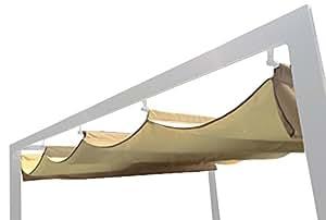 benedomi dachstoff f r standmarkise dubai 3 x 3 m ersatzstoff beige 35 x 28 x 18 cm. Black Bedroom Furniture Sets. Home Design Ideas