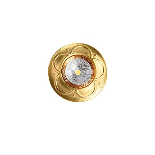 Loch Lampe alle Kupfer American Downlight Hause Spotlight LED Cat Eye Lampe Deckenleuchte einfaches Wohnzimmer eingebettetes Loch