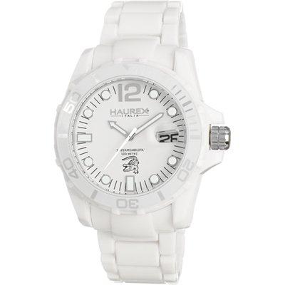 Haurex Italy Haurex Italia Caimano Blanco Dial plástico Mens Reloj