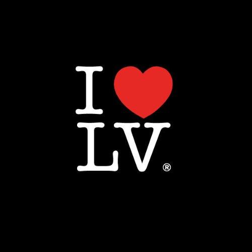 TEXLAB - I love Las Vegas - Herren T-Shirt Graumeliert