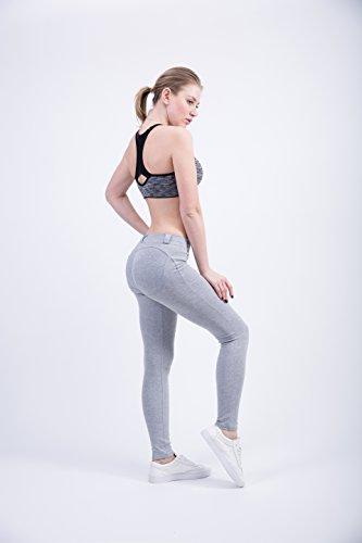 XWXW Donne Vita Bassa Ghette Spinge Verso L'Alto Sexy Hip Solid Pantaloni Per Le Donne Di Modo Elastico Leggings Sexy Legins Gray