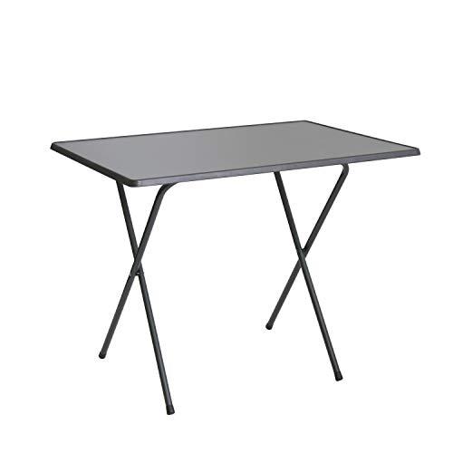 Scherentisch anthrazit klappbar als Campingtisch, Gartentisch ca. 60 x 80 x 64 cm anthrazit -...